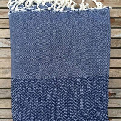 Hamamdoek XL Plaid Lantara - Jeans blauw - 195x300cm