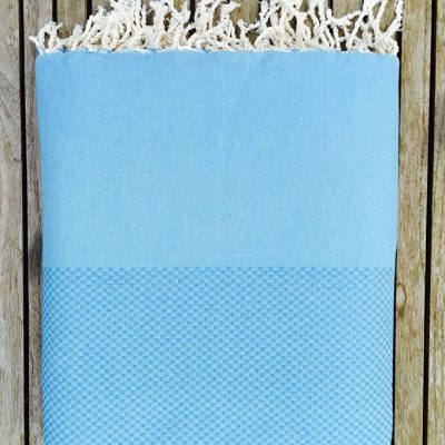 Hamam Plaid XL Lantara - blauw - 195x300cm