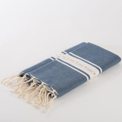 hamamdoek Jeansblauw Berbere van Lantara