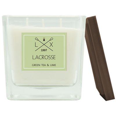 Lacrosse geurkaars green tea and lime 60 branduren