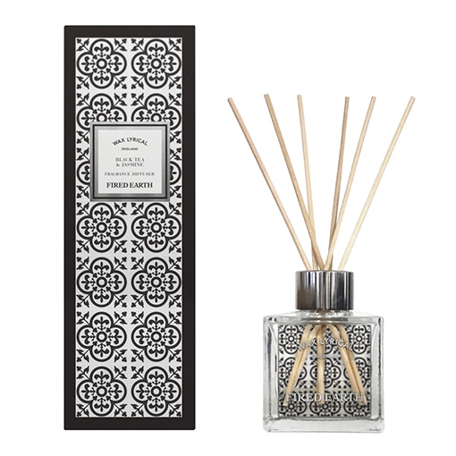 Wax Lyrical geurstokjes black tea jasmine 100ml